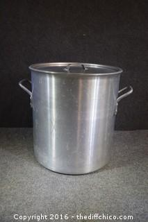 Heavy Duty 40-Quart Aluminum Cooking Pot w/Lid