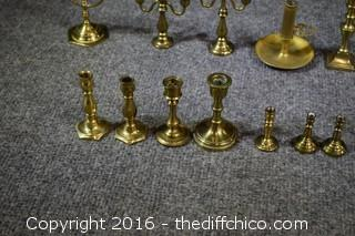 Brass Candlestick Lot