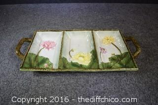 Hand Painted Divided Dish