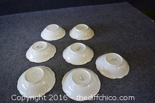 7 Franciscan Desert Rose - 6in Bowls