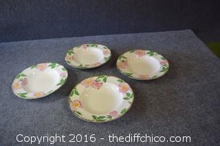 4 Franciscan Desert Rose - 8 1/2in Soup Bowls