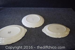 3 Franciscan Desert Rose - Platters