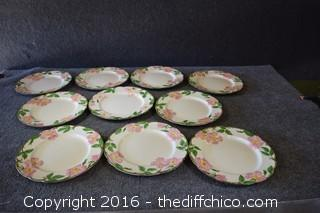 10 Franciscan Desert Rose - 10 1/2in Dinner Plates