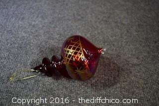Collectible Hand Blown Ornament