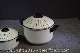 Enamel Steaming Cookingware Pots