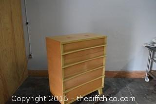 Vintage Cavalier Tall Boy w/4 Drawers
