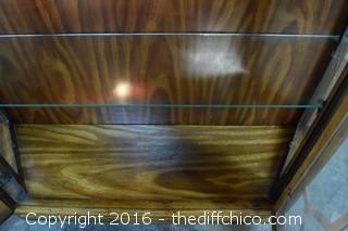 Vintage Display Cabinet w/Lights