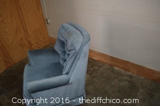Blue Swivel / Rocking Chair