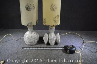 Working Unique Pair of 1940's-50's Lamps