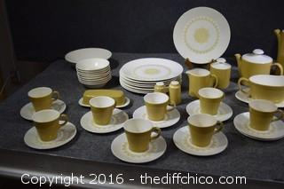 56 Pieces of Sheffield USA Dishes - Serenade Pattern