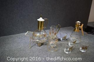 Vintage Cocktail / Coffee Set