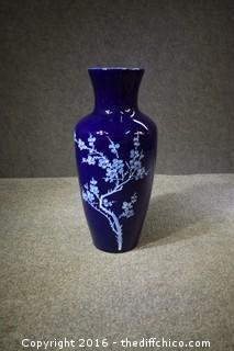 Oriental Cobalt Blue Vase