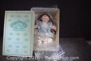 16in Porcelain Cabbage Patch Kid Collectible Doll in Box