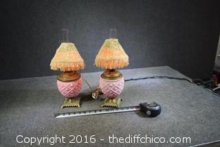 Vintage Oil Lamps Modified to Electric