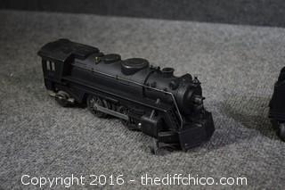 Vintage Engine & 2 Train Cars