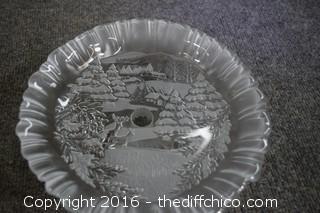 Christmas Pedestal Dish