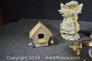 Vanity Mirror, Figures, Bird Feeder & More