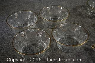 Gold Rimmed Dishes