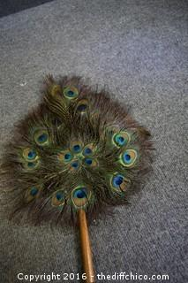 Peacock Feather Fan