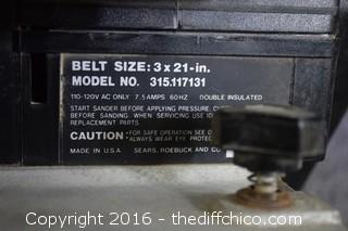 Working Craftsman 3-inch Belt Sander