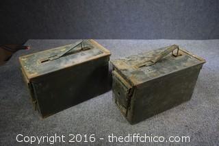 2 Ammo Boxes w/Machine Screws