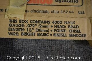 2 Boxes of Finish Nails - 1-1/2-inch Brads