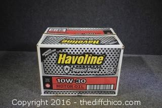 Case of Havoline 10W-30 Oil