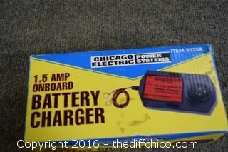 1.5 Amp Onboard Battery Charger