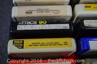 8 Track Tapes w/Case