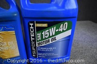 Motor Oil - 1 @ 20w-50 - 1 @ 15w-40