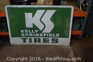 Vintage Kelly Springfield Metal Tire Sign