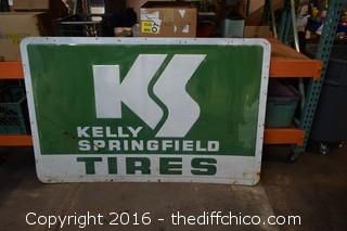 Vintage Kelly Springfield Metal Tire Sign