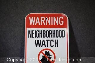 Metal Neighborhood Watch Sign