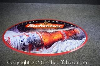 Metal Budweiser Sign