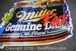 Metal Miller Genuine Draft Sign