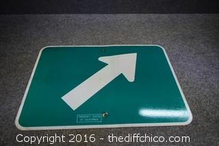 Metal Arrow Sign