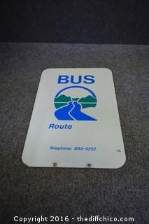 2 Sided Metal Bus Route Sign