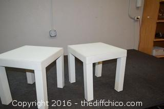 2 Plastic Tables