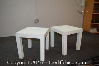 2 Plastic Tables