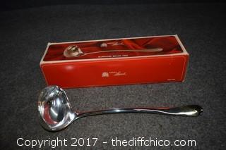 Silver Plate Serving Ladle w/Box