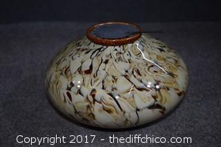 Glass Candle Bowl