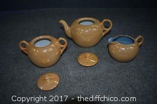 Tea Pot, Cream & Sugar Set