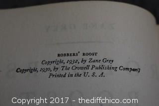 5 Vintage Zane Grey Books