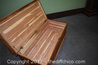Vintage Cedar Chest Bench