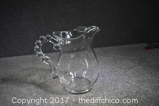 Candlewick Glass Pitcher
