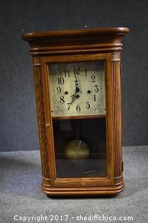 Working Howard Miller Mantle Clock w/Key