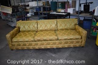 90-1/2 inch wide Vintage Couch
