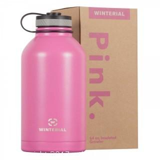 Winterial 64 OZ Insulated Pink Growler