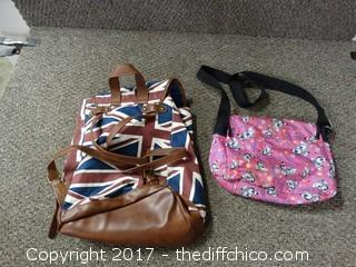 Back Pack and Girls Purse