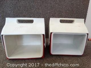 2 Little Playmate Ice Chests